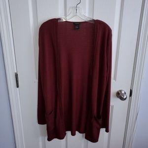 Anne Taylor Burgandy Sweater Size L